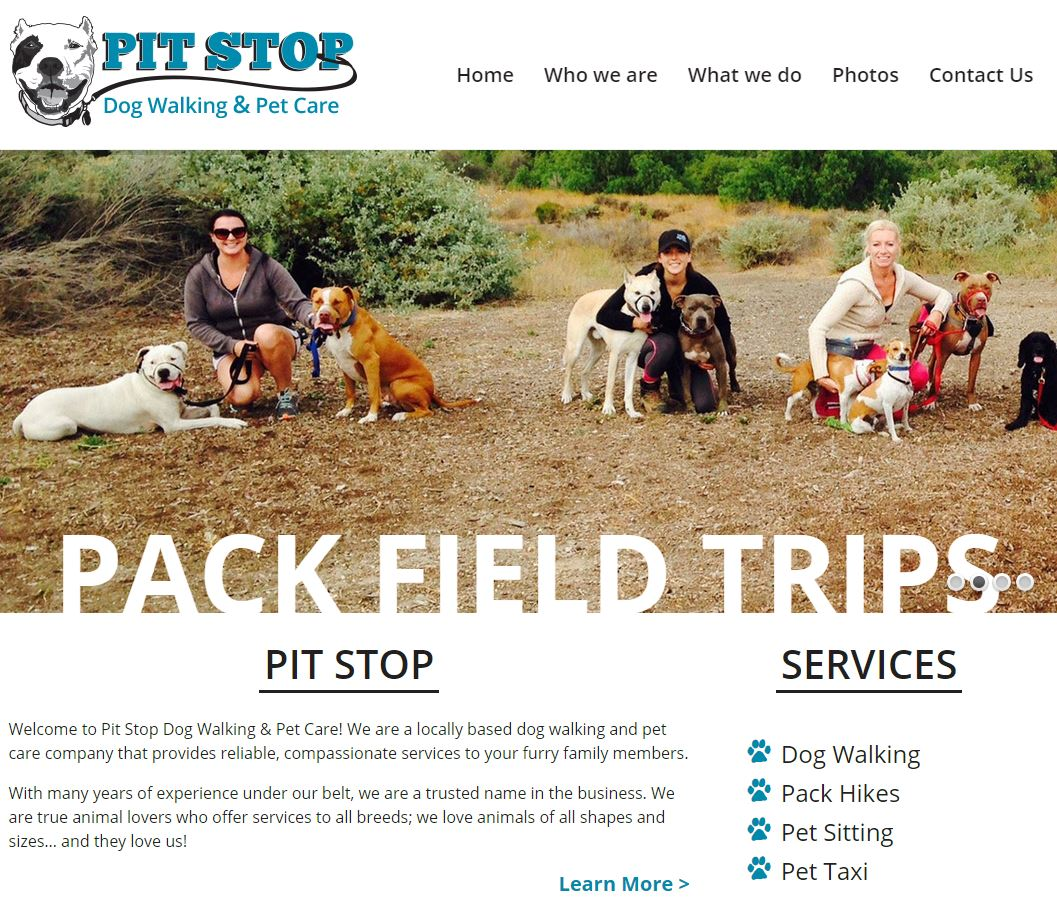 Pit Stop Dog Walking And Pet Care